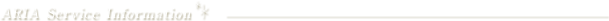 ARIA Service Info sub menu